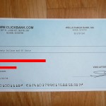 Making money with Clickbank - my first payment